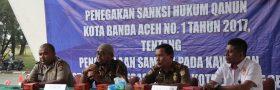 Masyarakat Yang Membuang Sampah Sembarangan terjaring OTT DLHK3 Banda Aceh di Kawasan Ulee Lheu