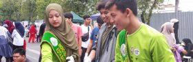 Duta Lingkungan Sosialisasi Pilah Sampah Kepada Pedagang di CFD